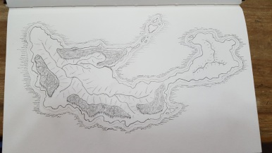 An island that belongs to an as yet unfinished writing project. Maybe you'll see it one day.